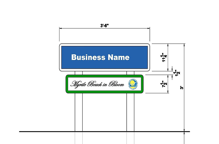 MB in Bloom Business Sign